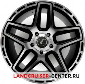 Диск  Lexus TYP02 черный с полировкой
