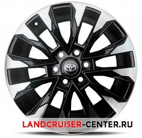 Диск  Toyota LC300 черный с полировкой