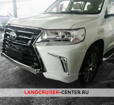 Накладка на передний бампер WALD LITE на Toyota Land Cruiser 200 | 369x400